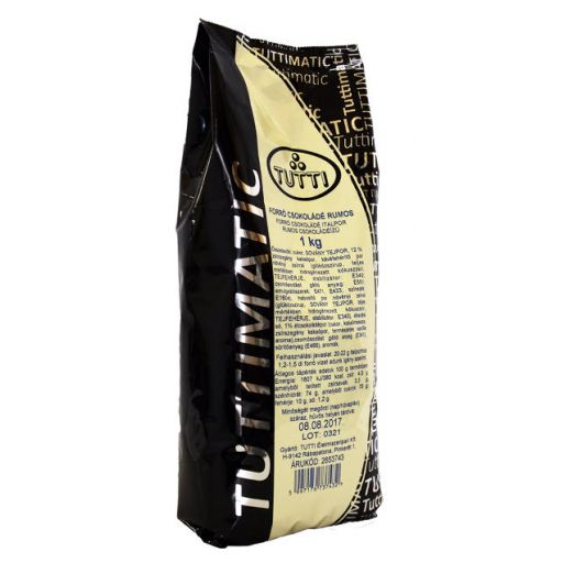 Hot Chocolate Drink Powder with Rum TUTTIMATIC 1 kg/bag