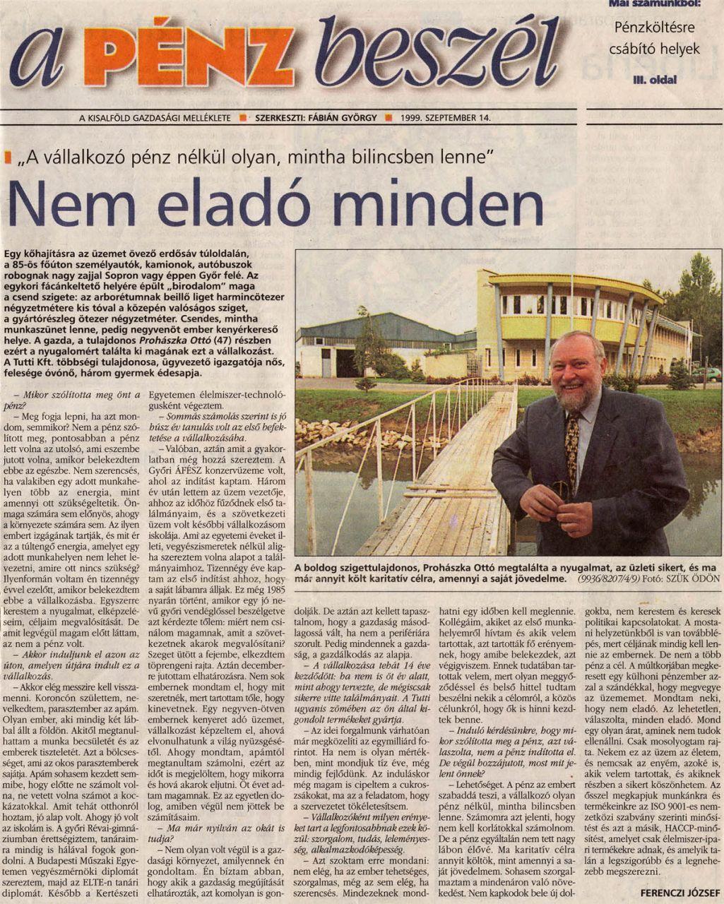 1999.09.14. - Kisalföld