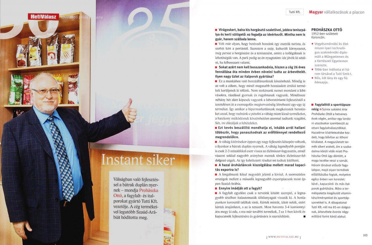 2012. december - Heti Válasz – Magyar vállalkozások a piacon, 50 követendő példa a sikerre