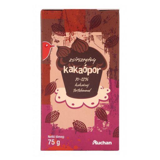 Kakaópor Zsírszegény Auchan 75 g/papírdoboz