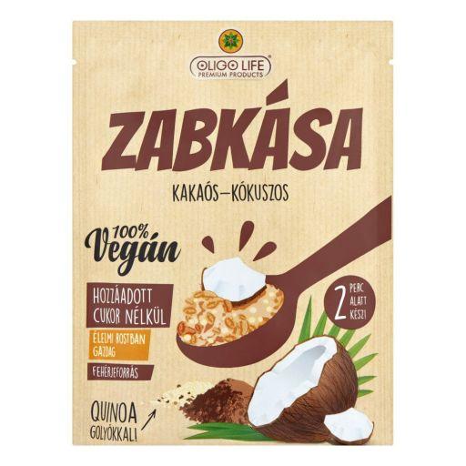 OLIGOLIFE kakaós kókusz ízű zabkása édesítőszerekkel 65 g