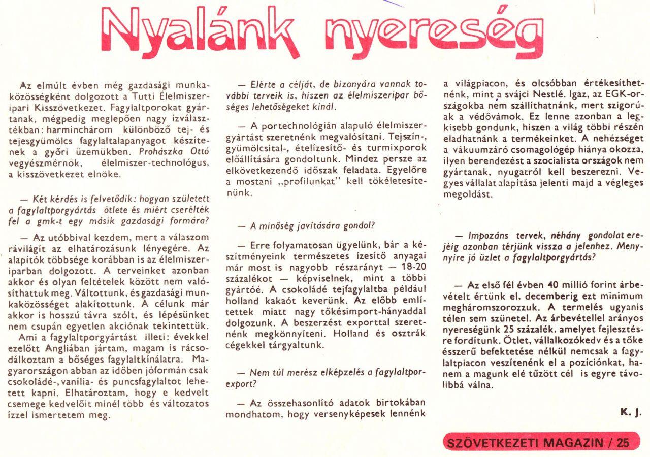 1987.09.07 szám - Szövetkezeti Magazin