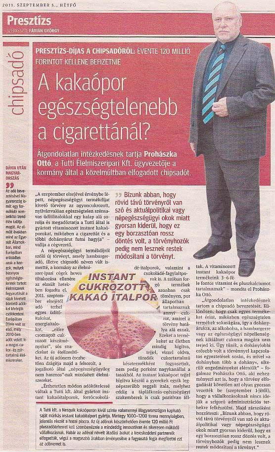 2011.09.05. - Kisalföld/Presztízs
